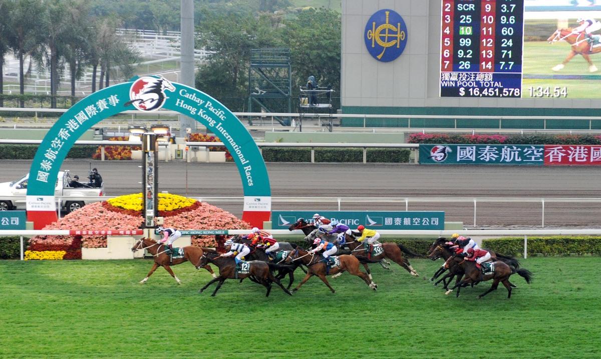 香港一哩錦標蹄造美麗乘機取勝