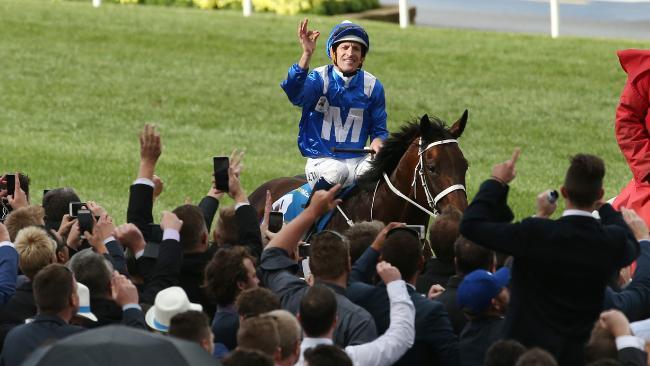 「雲絲仙子」以八個馬位大勝,再一次創下賽事紀錄。 Source: Colleen Petch/News Corp Australia