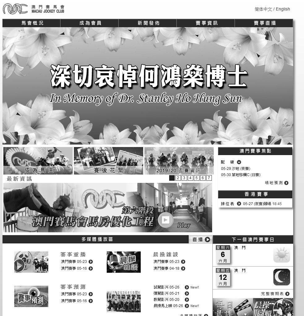 每日賽馬晚報(2020年5月26日),澳門賽馬會前主席何鴻燊離世,英國復出續良好訊號