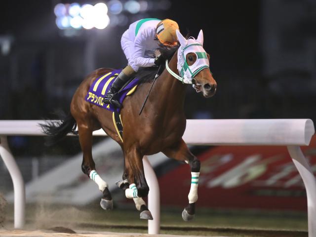 全日本兩歲優駿,Alian Barows搶贏前段放到底