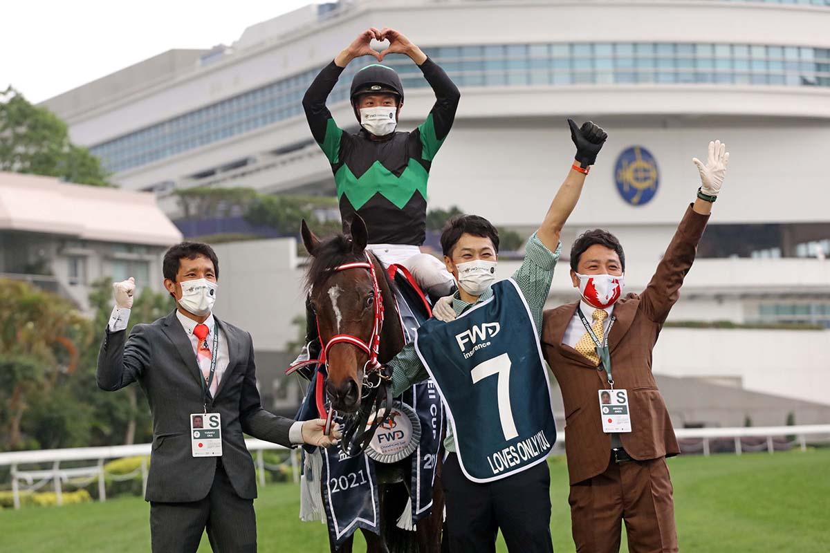 女皇盃,何澤堯把握機會騎唯獨愛你贏馬